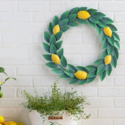Lemon Wreath Metal Wall Decor