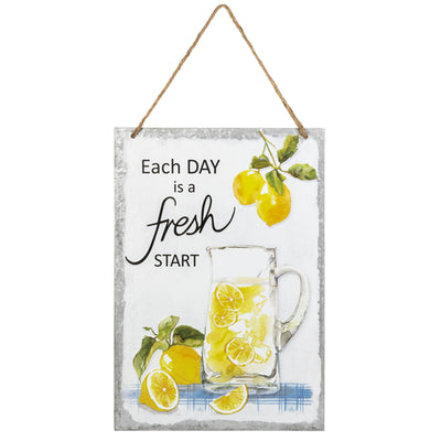 Fresh Start Embossed Hanging Sign