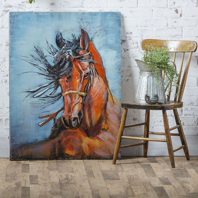 Wild and Free Metal Wall Art