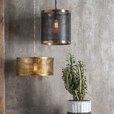 Gold Mesh Pendant Lamp