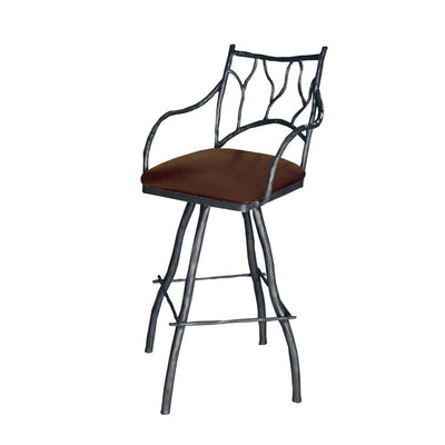 Branches Iron Counter Stool