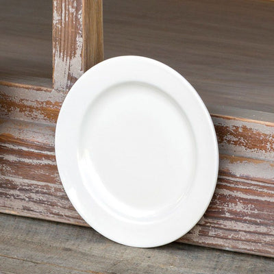 8in Creamware Salad Plate (Set-4) | Iron Accents
