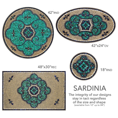 Sardinia Mosaic Table Tops-Iron Accents