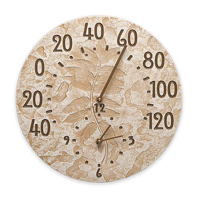 Pressed Leaf Clock & Thermometer