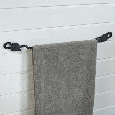 "Forged Leaf Towel Bar - 16"" or 24"" 