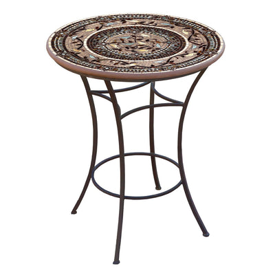 Provence Mosaic High Dining Table-Iron Accents