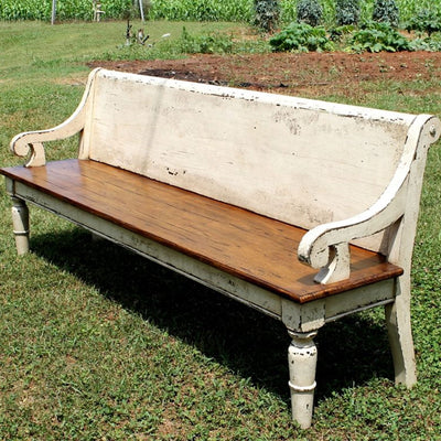 Danville Custom Deacon's Bench-Iron Accents