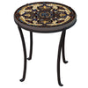 Almirante Mosaic Chaise Table-Iron Accents