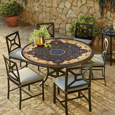 Almirante Mosaic Patio Table-Iron Accents