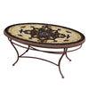 Almirante Mosaic Coffee Table - Oval-Iron Accents