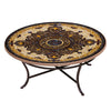 Almirante Mosaic Coffee Table-Iron Accents
