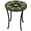 Arenal Mosaic Chaise Table-Iron Accents