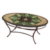 Arenal Mosaic Coffee Table - Oval-Iron Accents