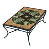 Arenal Mosaic Coffee Table - Rect-Iron Accents