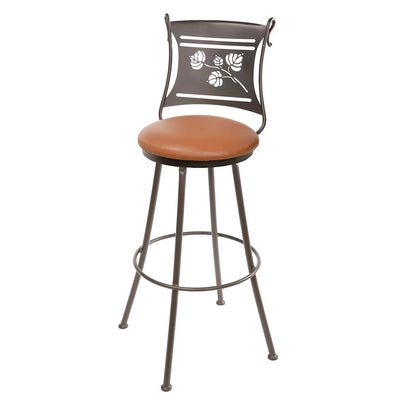 Aspen Wrought Iron Bar Stool-Iron Accents