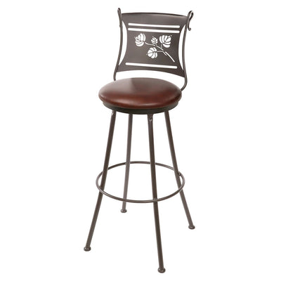 Aspen Counter Stool - Pecan Leather