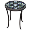 Belcarra Mosaic Chaise Table-Iron Accents