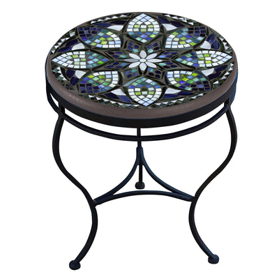 Belcarra Mosaic Side Table-Iron Accents