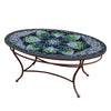 Belcarra Mosaic Coffee Table - Oval-Iron Accents