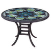 Belcarra Mosaic Patio Table-Iron Accents