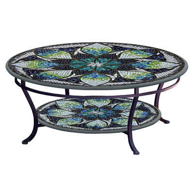 Belcarra Mosaic Coffee Table - Tiered-Iron Accents