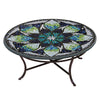 Belcarra Mosaic Coffee Table-Iron Accents