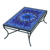 Bella Bloom Mosaic Coffee Table - Rect-Iron Accents