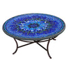 Bella Bloom Mosaic Coffee Table-Iron Accents