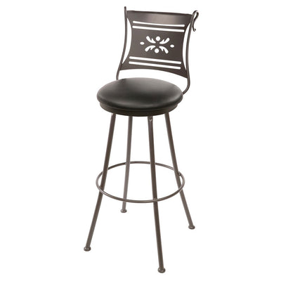 Bistro Counter Stool - Black Leather