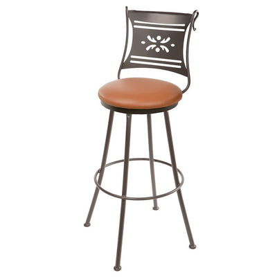 Bistro Counter Stool - Camel Tan Leather