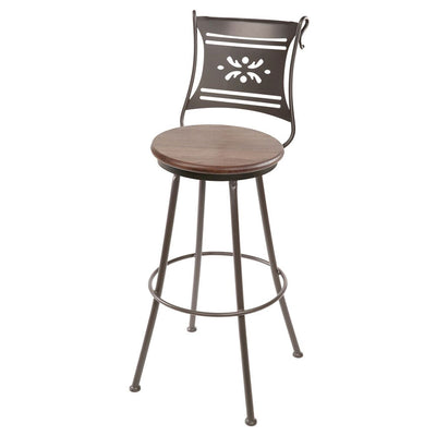 Bistro Bar Stool - Oxblood Oak