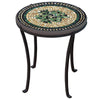 Black Olives Mosaic Chaise Table-Iron Accents