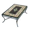 Black Olives Mosaic Coffee Table - Rect-Iron Accents