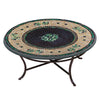 Black Olives Mosaic Coffee Table-Iron Accents