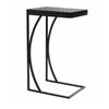 Slate Glass Mosaic C-Table-Iron Accents
