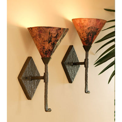 Cedarvale Single Wall Sconce-Iron Accents