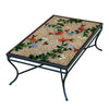 Caramel Hummingbird Mosaic Coffee Table - Rect-Iron Accents