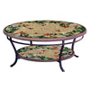 Caramel Hummingbird Mosaic Coffee Table - Tiered-Iron Accents