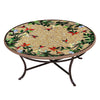 Caramel Hummingbird Mosaic Coffee Table-Iron Accents