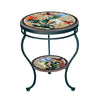 Caramel Hummingbird Mosaic Side Table - Tiered-Iron Accents