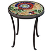 Dahlia Mosaic Chaise Table-Iron Accents