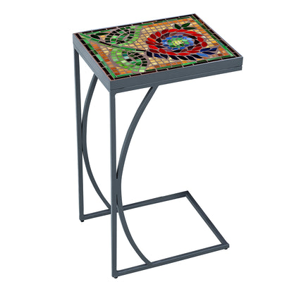 Dahlia Mosaic C-Table-Iron Accents