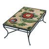 Dahlia Mosaic Coffee Table - Rect-Iron Accents