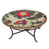 Dahlia Mosaic Coffee Table-Iron Accents