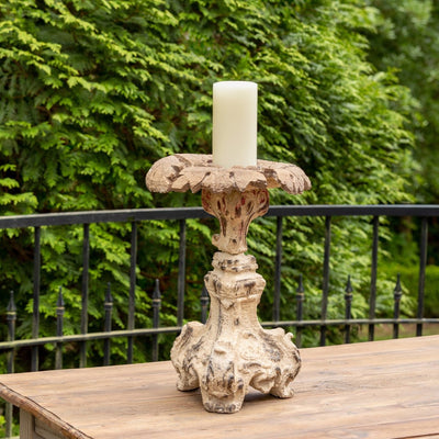 Cast Relic Candle Holder