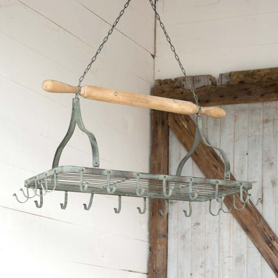Hanging Rolling Pin Pot Rack