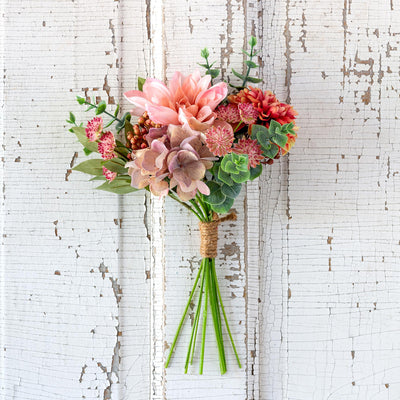 Dahlia And Eucalyptus Market Bouquet-Iron Accents