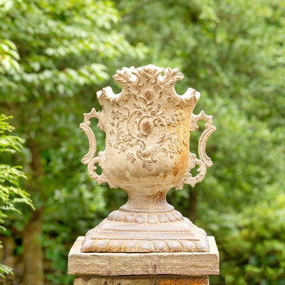 Aged Estate Urn-Iron Accents