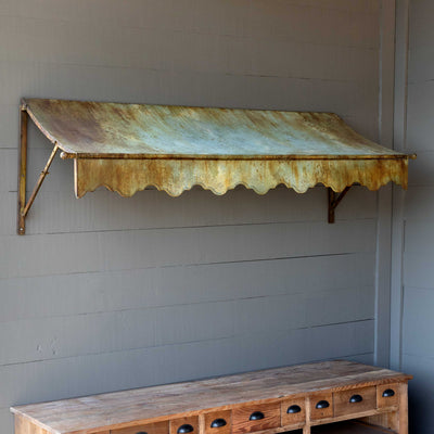 Aged Metal Awning-Iron Accents