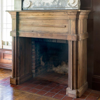Reclaimed Wood Fireplace Mantle